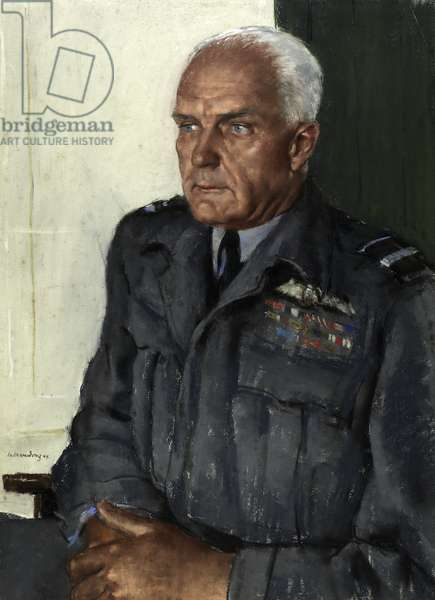 Air Vice Marshall L. O. Brown CBE DSC AFC, 1944 (pastel on paper)