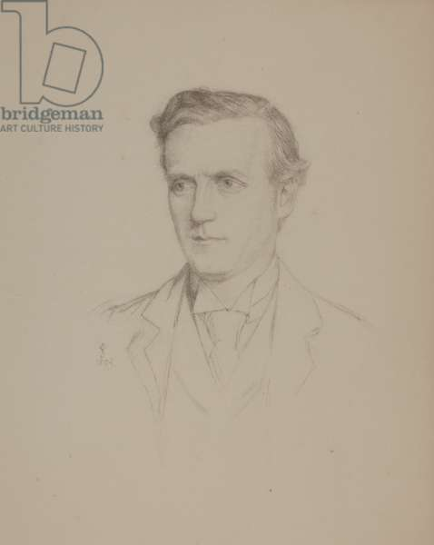 The Earl of Oxford and Asquith, Husband of 'Margot', 1892 (pencil on paper)