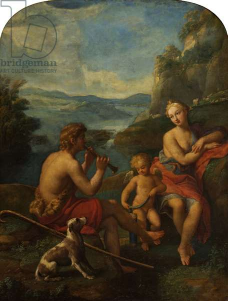 Daphnis and Chloe (oil on canvas)