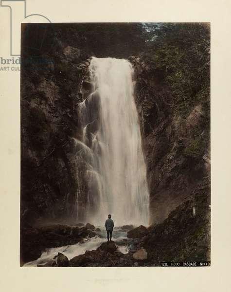 Hodo Cascade, Nikko (hand-coloured photo)