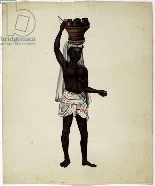 Oil Seller (gouache on paper)