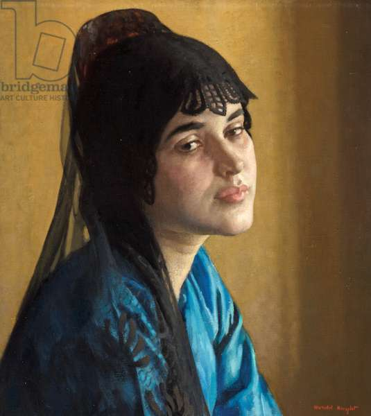 The Mantilla (oil on board)