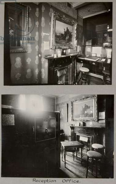 The Reception Office at the Royal Bath Hotel, 1920-30 (b/w photo)