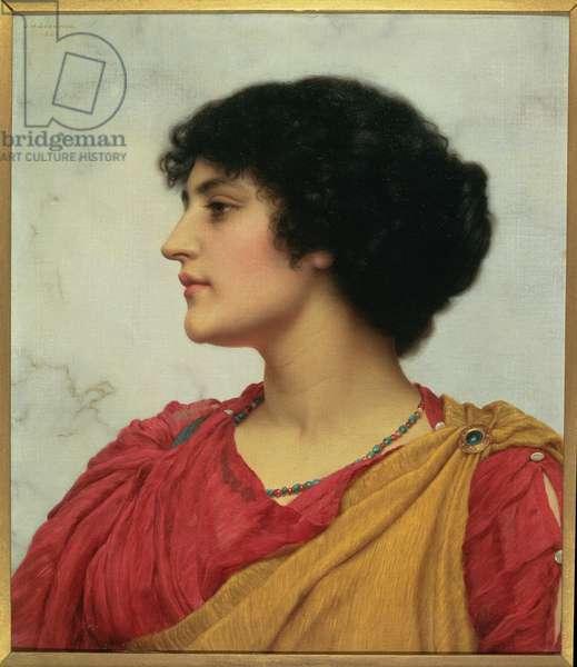 An Italian Girl's head, 1902 (oil on canvas)