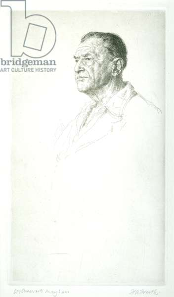 W. Somerset Maugham, 1946 (etching)