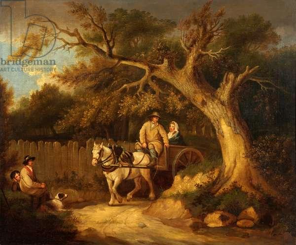 Through the Wood (oil on canvas)