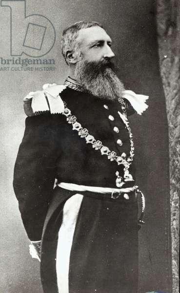 Leopold II (1835-1909) King of Belgium (1865-1909) (b/w photo)