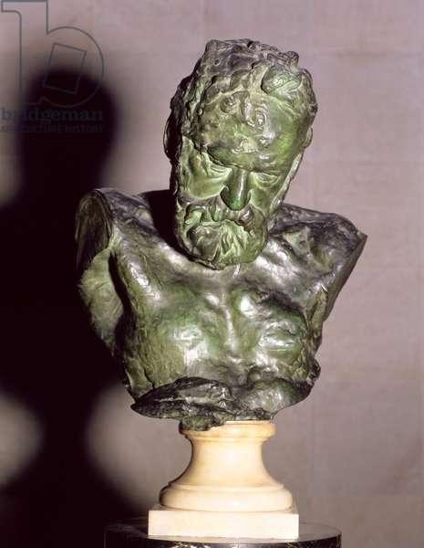 Bust of Victor Hugo (1802-85) (bronze)