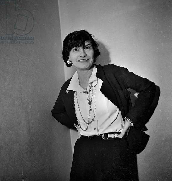 Coco Chanel, 1936 (b/w photo)
