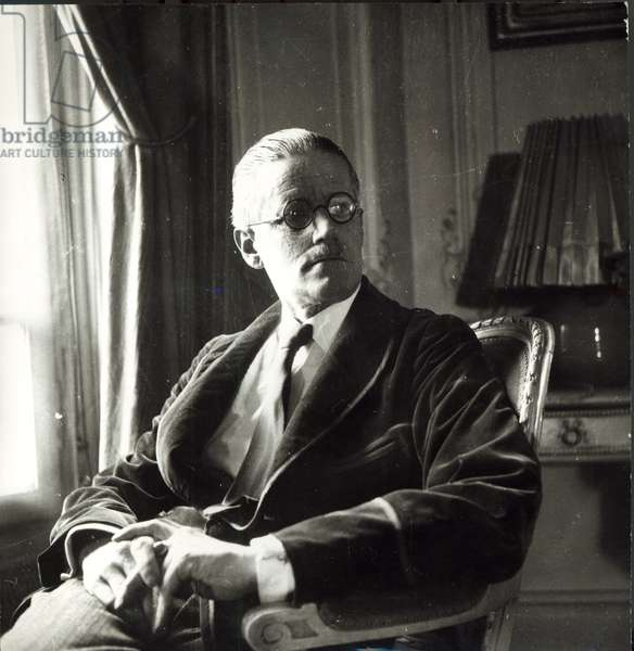 Portrait of James Joyce, 1934 (1882-1941) (photo)