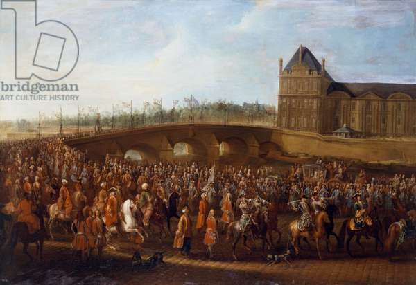 Turkish ambassador Mehmed Efendi leaving after an audience with King Louis XV of France, on March 21, 1721 (oil on canvas)