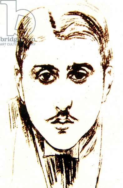 Marcel Proust (1871-1922) at the Age of 20 (pen & ink on paper)
