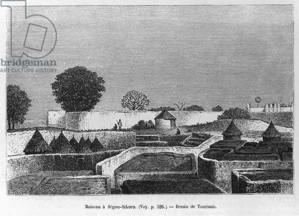 Houses in Ségou, Mali, 1886 (engraving)