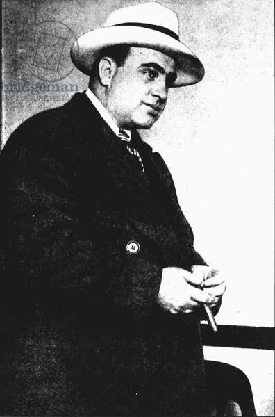 Al Capone (1899-1947) (b/w photo)