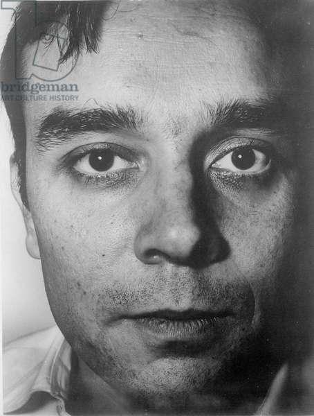 Portrait of Yves Klein (1928-1962) (b/w photo)