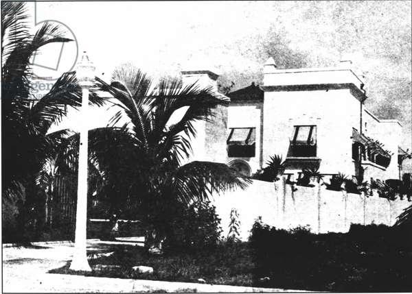 Al Capone's (1899-1947) villa at 93 Palm Island, Florida, where he died on 25th January 1947 (b/w photo)