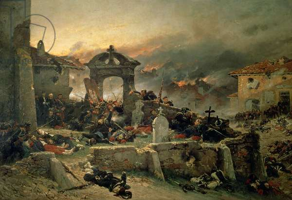 The Cemetery of Saint Privat, 18th August 1870, 1881 (oil on canvas)