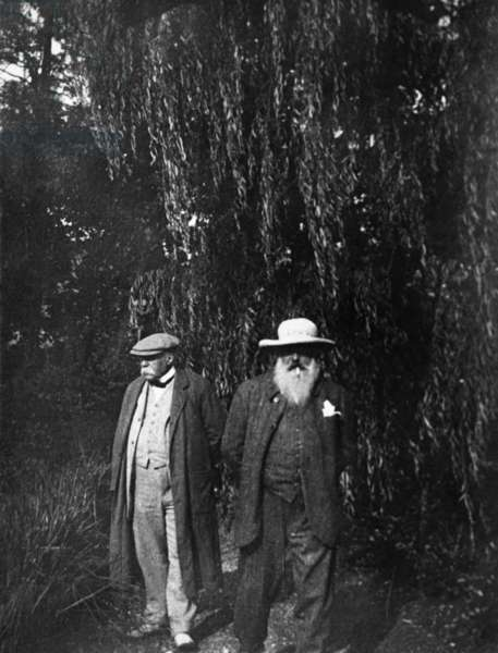 Georges Clemenceau and Claude Monet (b/w photo)