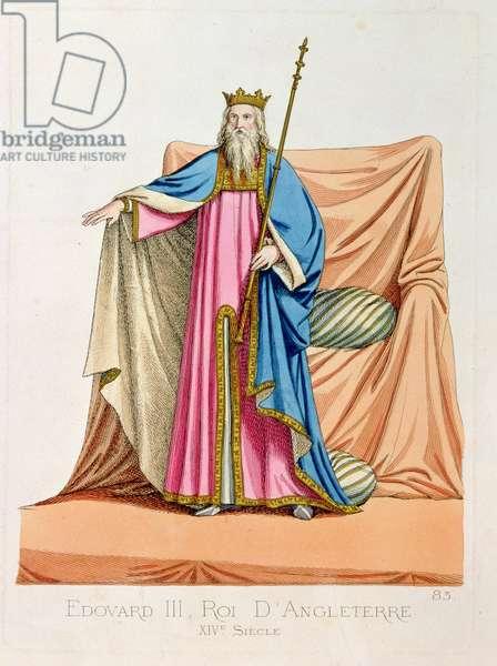 Edward III (1312-77) King of England (litho)