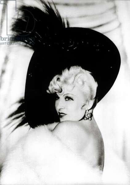 Mae West (1893-1980) (b/w photo)