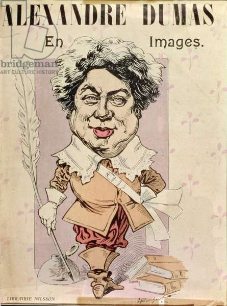 Caricature of Alexandre Dumas pere (1802-70) 1902 (litho)