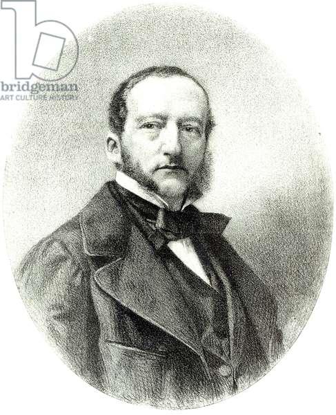 Sigismund Fortune Francois Thalberg (1812-71) (litho) (b&w photo)
