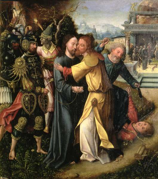 The Kiss of Judas (oil on panel)