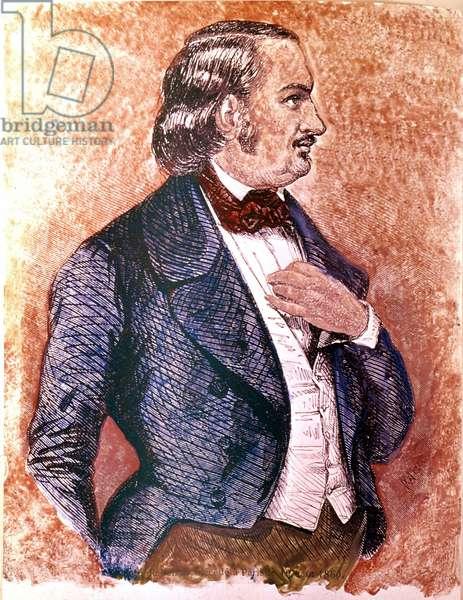 Honore de Balzac (1799-1850) (engraving)
