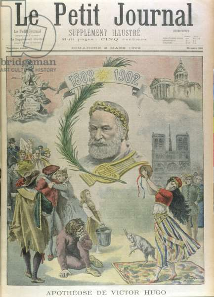 Apotheosis of Victor Hugo (1802-85) from 'Le Petit Journal', 2nd March 1902 (litho)