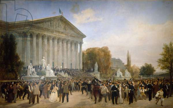 The Annunciation of the Abolition of the Imperial Regime in front of the Palais du Corps Legislatif, 4 September, 1870 (oil on canvas)