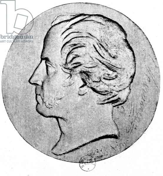 Portrait of Etienne Pivert de Senacour (1770-1846) printed by E.Charreyre (litho) (b/w photo)