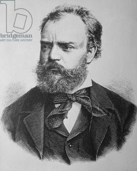 Portrait of Anton Dvorak (1841-1904) Czech composer (engraving)