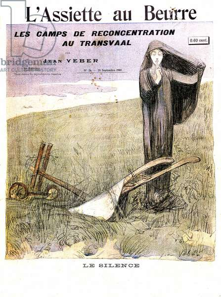 The Concentration Camps in the Transvaal: The Silence, caricature from 'L'Assiette au Beurre', 28th September 1901 (litho)