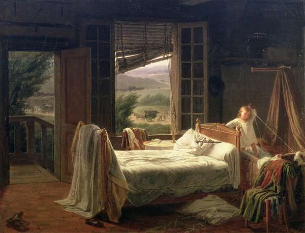 The Orphan, or Fatal Cholera, 1832 (oil on canvas)
