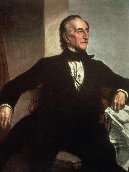 Portrait of John Tyler (colour litho)