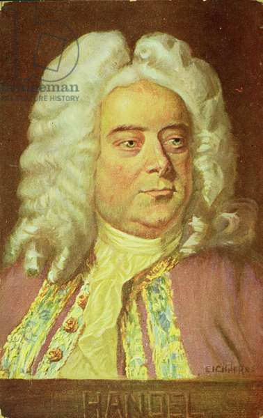 Portrait of George Frederick Handel (1685-1759) (oil on canvas)