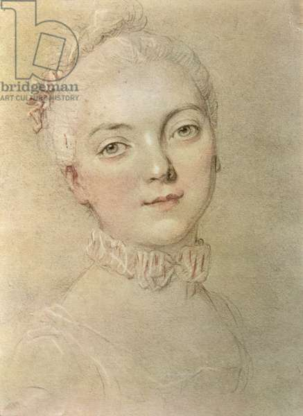 Portrait of Madame du Barry (1743-93) (pastel and paper on paper)