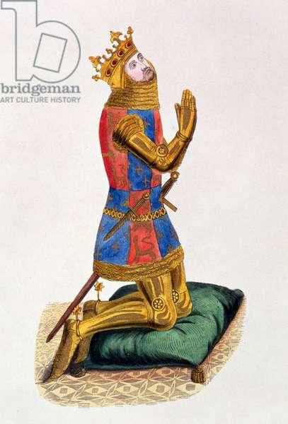 Edward III (1312-77) King of England from 1327-77 (litho)