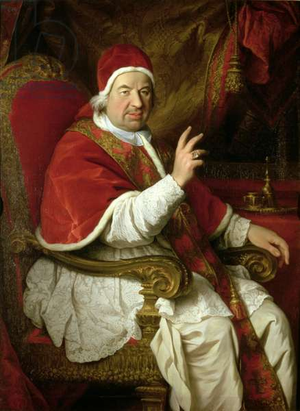 Pope Benedict XIV (1675-1758) (oil on canvas)
