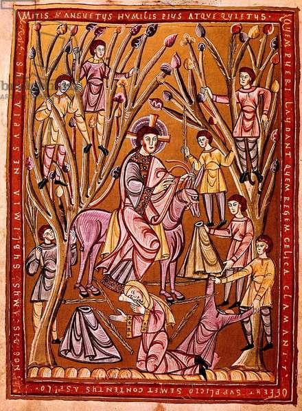 Palm Sunday, Gospel of Vibebrod, 11th century (vellum)