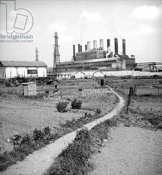 Power Station at Gennevillers, Hauts-de-Seine, France, France, 1949 (b/w photo)