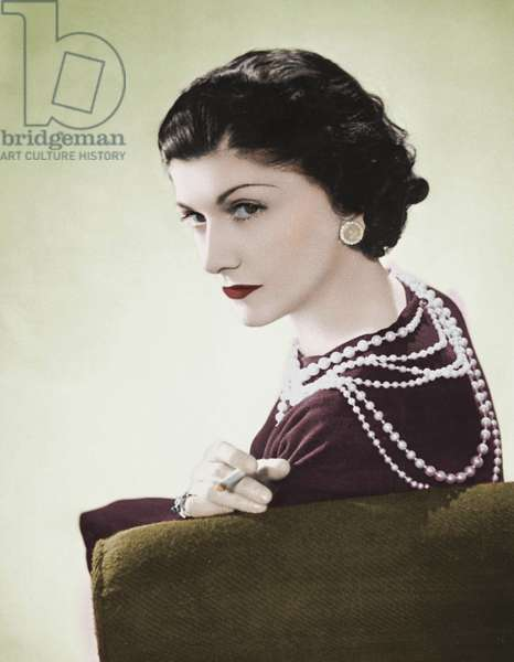 Coco Chanel, 1936 (hand-coloured photo)