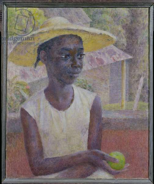 Ancilla with an Orange, 1956 (oil on canvas)