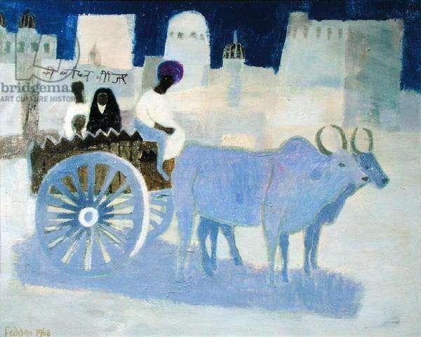 Bullock Cart, 1968 (oil on canvas)
