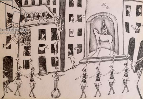 Theatre, 2014,(pencil on paper)