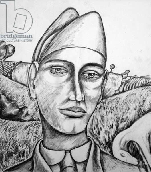 Italian Soldier,2014(pencil on paper)