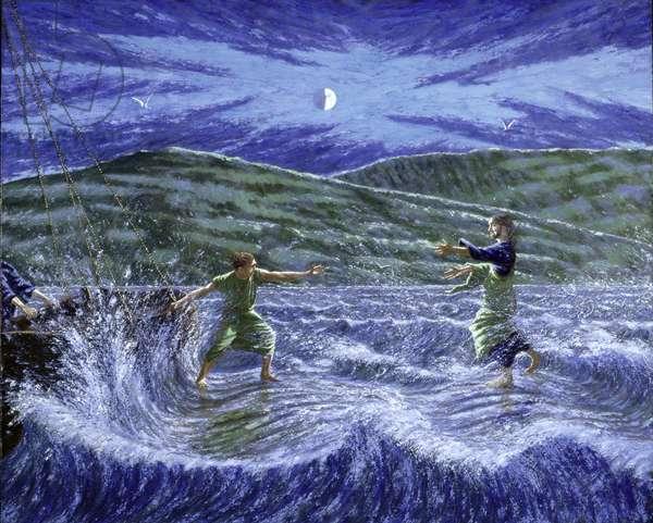 Walking on Water, 1995 (oil on board)