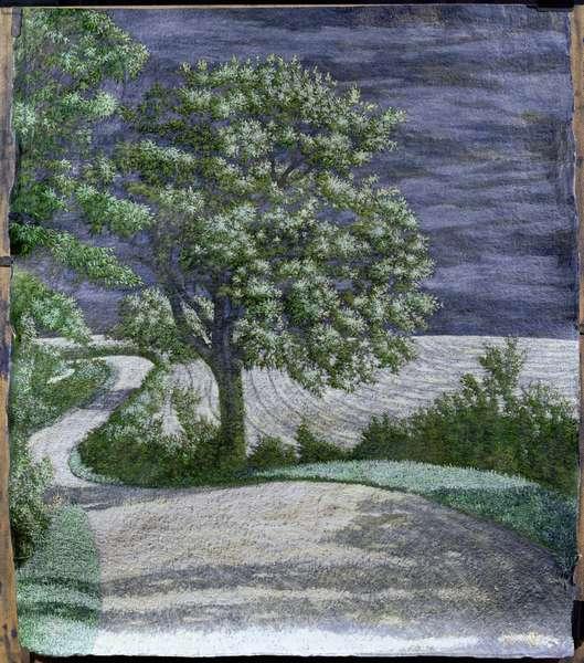 Charlbury Road, 2004 (mixed media on paper)