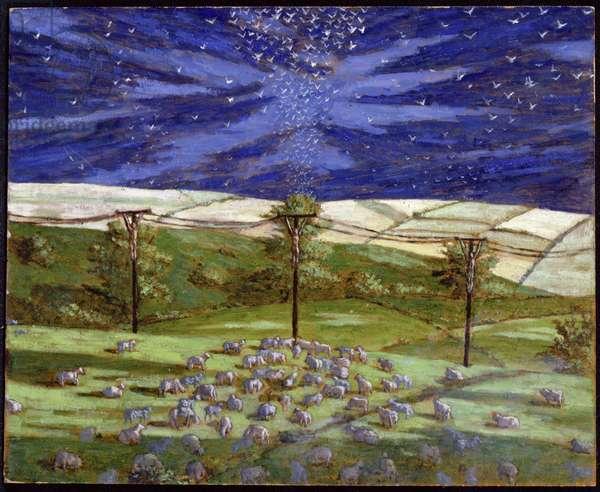 Dartmoor Crucifixion (study), 2004 (oil on board)