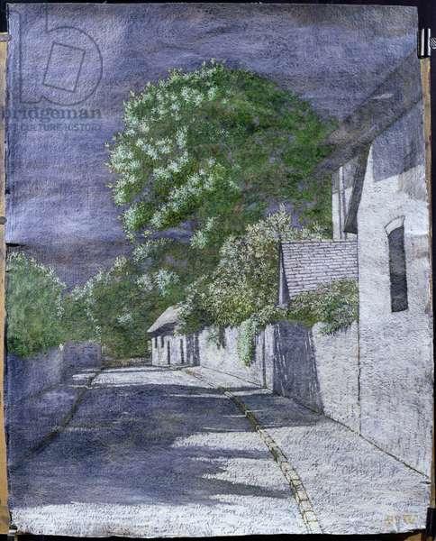 Church Way, Iffley, 2004 (mixed media on paper)